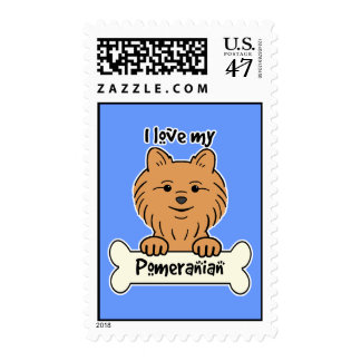 I Love My Pomeranian Postage