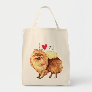 I Love my Pomeranian Tote Bag