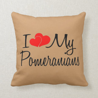 I Love My Pomeranians Pillow