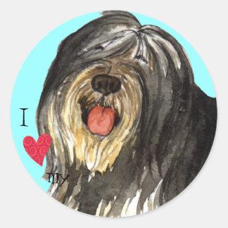 I Love my PON Classic Round Sticker