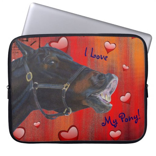 I Love My Pony! Cute Equestrian Laptop Computer Sleeves