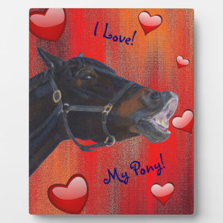 I Love My Pony! Cute Equestrian Plaques