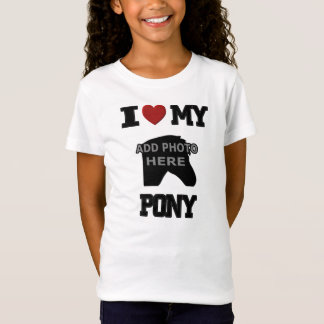 I LOVE MY PONY KIDS T-SHIRT - ADD YOUR OWN PHOTO!
