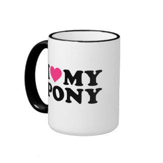 I love my pony ringer mug