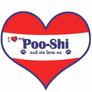 I Love My Poo-Shi (Female Dog) Photo Sculpture Ornament