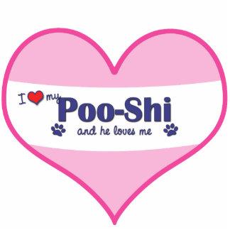 I Love My Poo-Shi (Male Dog) Cutout
