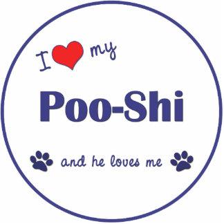 I Love My Poo-Shi (Male Dog) Photo Sculpture Ornament