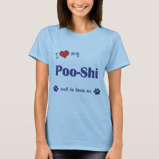 I Love My Poo-Shi (Male Dog) T-Shirt