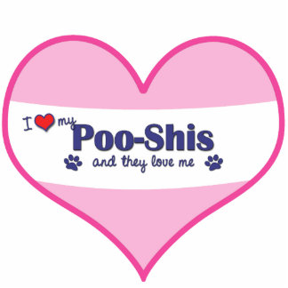 I Love My Poo-Shis (Multiple Dogs) Statuette