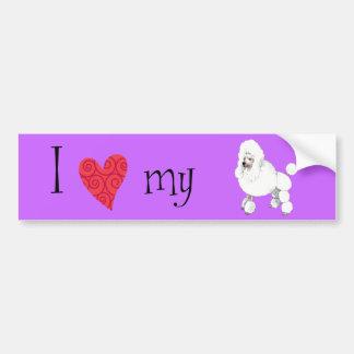 I Love my Poodle Car Bumper Sticker