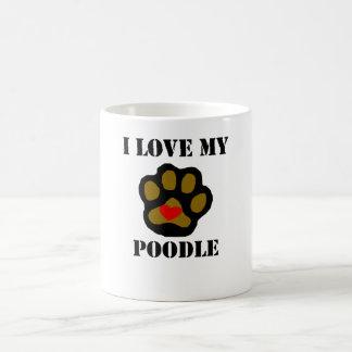 I Love My Poodle Coffee Mug