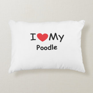 I love my Poodle dog Accent Pillow