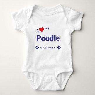I Love My Poodle (Female Dog) Baby Bodysuit