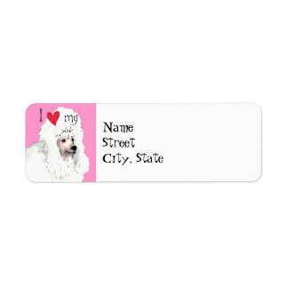 I Love my Poodle Label