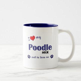 I Love My Poodle Mix (Male Dog) Mugs