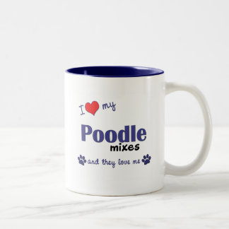 I Love My Poodle Mixes (Multiple Dogs) Mugs