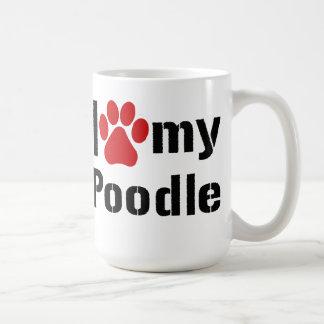 I Love My Poodle Mugs