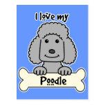 I Love My Poodle Postcards