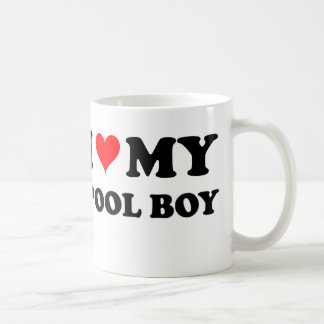 I Love My Pool Boy Classic White Coffee Mug
