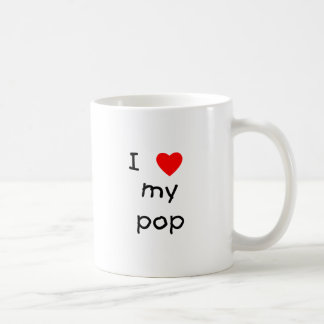 I Love My Pop Coffee Mug