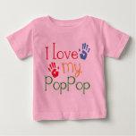 I Love My PopPop (Handprints) Baby T-Shirt