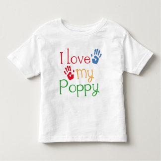 I Love My Poppy (Handprints) Toddler T-shirt