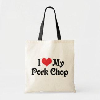 I Love My Pork Chop Tote Bag
