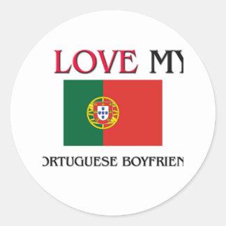 I Love My Portuguese Boyfriend Round Stickers