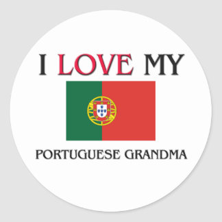 I Love My Portuguese Grandma Sticker