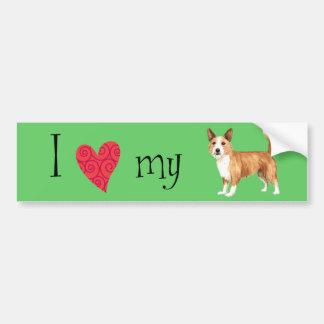 I Love my Portuguese Podengo Pequeno Bumper Sticker