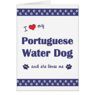 I Love My Portuguese Water Dog (Female Dog) Stationery Note Card