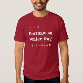 I Love My Portuguese Water Dog (Female Dog) Tshirt