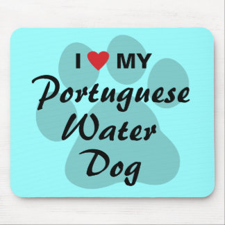 I Love My Portuguese Water Dog Mouse Pad