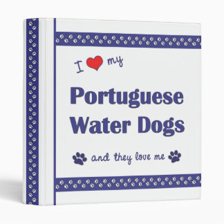 I Love My Portuguese Water Dogs (Multiple Dogs) Binder
