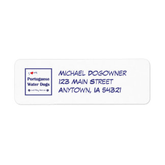 I Love My Portuguese Water Dogs (Multiple Dogs) Return Address Label
