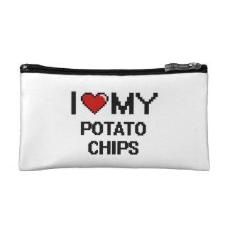 I Love My Potato Chips Digital design Cosmetic Bag