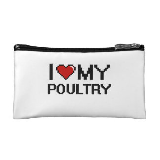 I Love My Poultry Digital design Cosmetic Bags