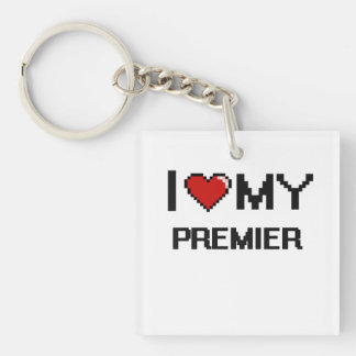 I love my Premier Single-Sided Square Acrylic Keychain