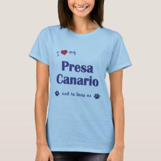 I Love My Presa Canario (Male Dog) T-Shirt