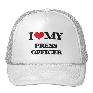 I love my Press Officer Trucker Hats