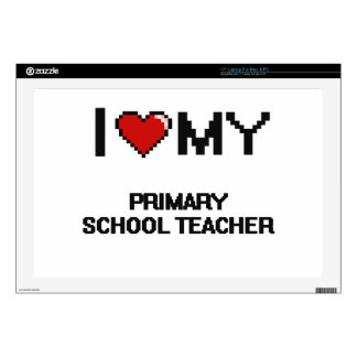 I love my Primary School Teacher Laptop Decals