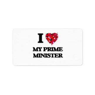 I Love My Prime Minister Address Label
