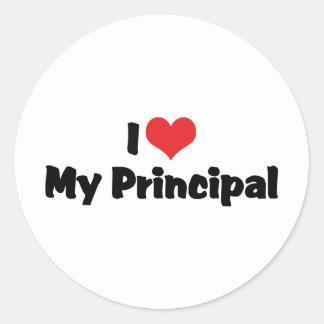 I Love My Principal Classic Round Sticker