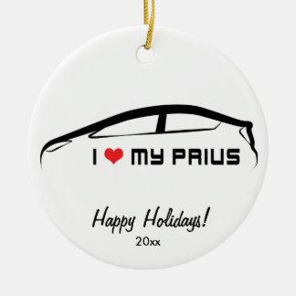 I Love My Prius Ceramic Ornament