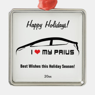 I Love My Prius Metal Ornament