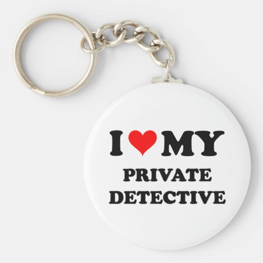 I Love My Private Detective Basic Round Button Keychain