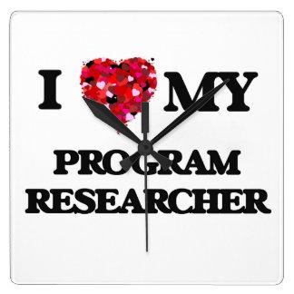 I love my Program Researcher Square Wallclocks