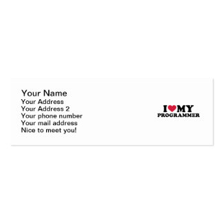 I love my Programmer Double-Sided Mini Business Cards (Pack Of 20)