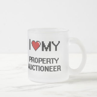 I love my Property Auctioneer Frosted Glass Mug