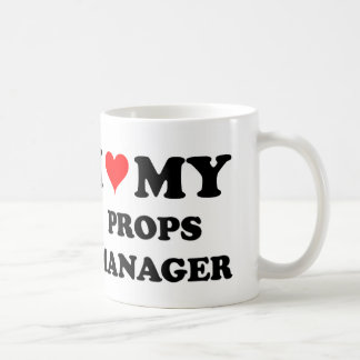 I Love My Props Manager Classic White Coffee Mug